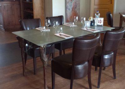 Eettafel met 4 appelboompjes 150 bij 85 cm 3v Connecting-Art Willy Koenen IMG_2315