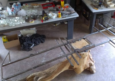 3 Proces eettafel met stalen frame Connecting-Art Willy Koenen IMAG1218