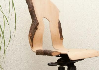 4 Buro stoel met wortel decoratie Connecting-Art Willy Koenen9077
