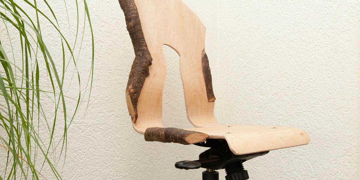Decoratie houten boom sfeerlicht of werklicht erin for Houten decoratie boom